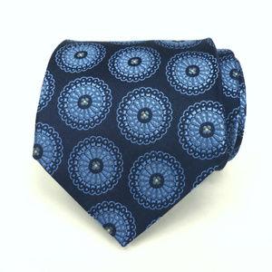 Banana Republic Men's Tie Pure Silk Blue Medallion